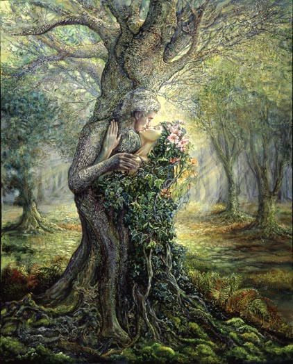 Dryad and Treespirit by Josephine Wall